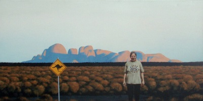Aunty Muriel in Country, 2010, Acrylic on Canvas, 50 x 100cm, $3.500