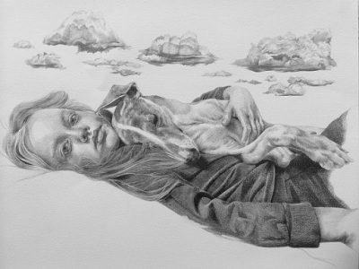 Cloudbursting, 2015, Drawing, Pencil on paper, 29 x 42cm, $1.100