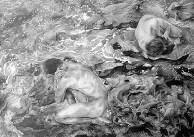 Ebb and flow, 2015, Drawing, Pencil on paper, 29 x 42cm, $1.100