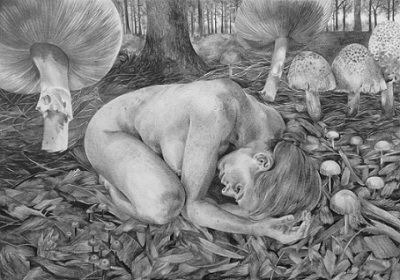 Protection, 2015, Drawing, Pencil on paper, 29 x 42cm, $1.100