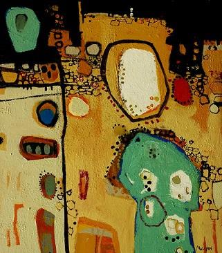 Anglesea I, 2015, Acrylic on Board, 43 x 50cm, framed, $1.450
