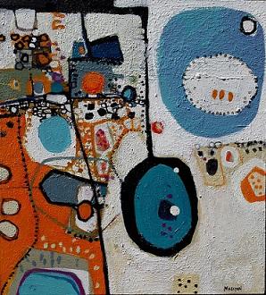Anglesea II, 2015, Acrylic on board, 43 x 50cm, framed, $1.450