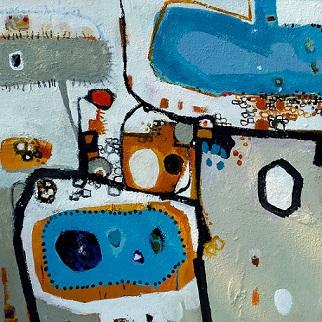 Coastal study Northern Territory, 2015, Acrylic on Board, 60 x 60cm,  framed, $1.850