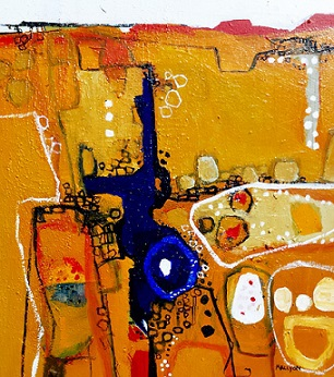 Katherine Gorge, 2015, Acrylic on Wood, 45 x 50cm, framed, $1.450