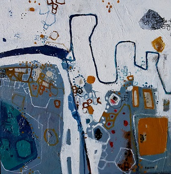 Moorabool River, 2015, Acrylic on Board, 60 x 60cm, framed, $1.850