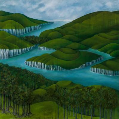 Captive Land, 2016, $3500, Acrylic on canvas, 760x760mm