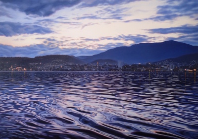 Hobart by night ( Finalist Brisbane art prize 2017)