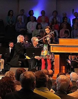 Chris Golden, Elizabeth Golden, fiddle,  First Baptist Church