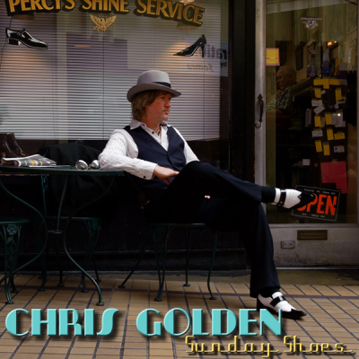Chris Golden, album cover, Sunday Shoes, two toe shoes, Homburg hat, sharp dressed man