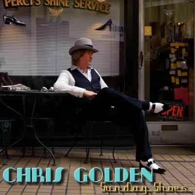 Chris Golden, album cover, Sunday Shoes, two toe shoes, Homburg hat, sharp dressed man