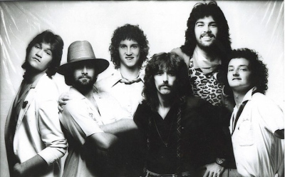 1980 / The Boys Band / L-R: Chris Golden, Tommy Hensley, Sam Stricklin, Greg Gordon, Rusty Golden, B. Lowery