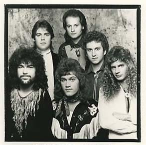 1985 / Golden Speer / photo: Alan Messar / L-R: Rusty Golden, Mark Seymour, Larry Marrs, Sam Stricklin, Marc Speer