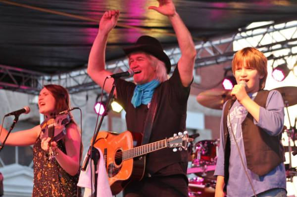 Chris Golden and family in concert