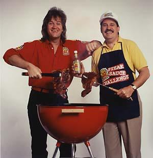 1993 - As Heinz 57 National Spokesmen 'Jim Bruch' and 'Earl Glass' (Jim Conlan)