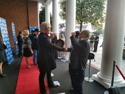 Chris Golden on the red carpet at the IGMA Awards in NAshville, TN