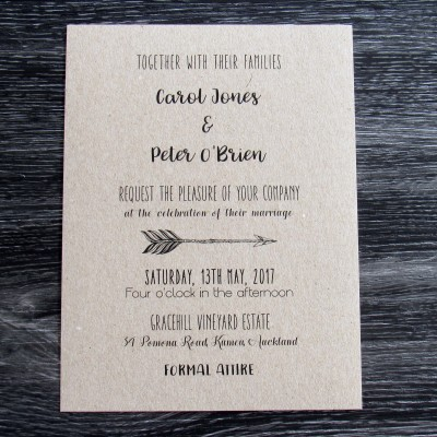 Arrow Invitation