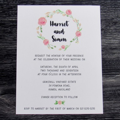 Blossom Invitation