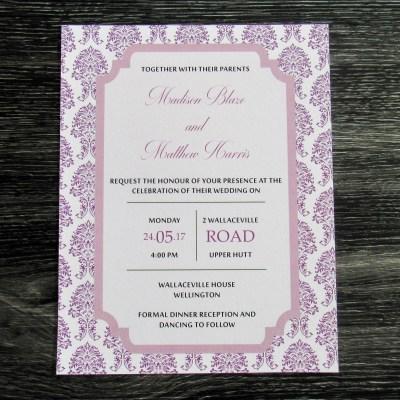 Damask Invitation