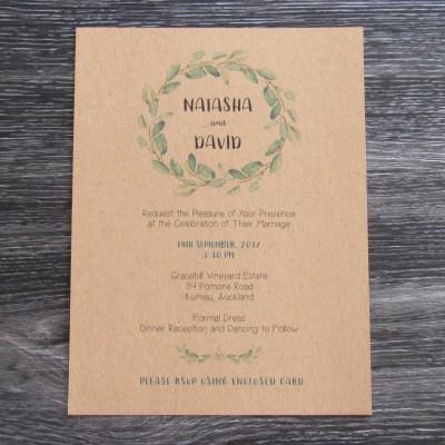 Eucalyptus Invitation