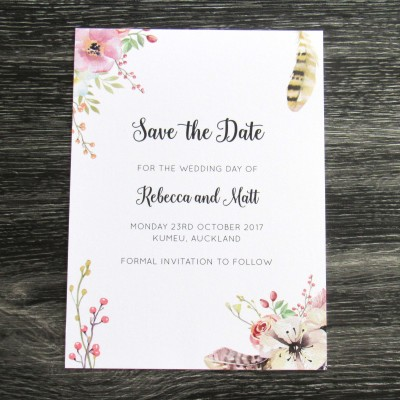 Feathers & Bloom Save the Date