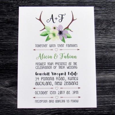 Antlers Invitation