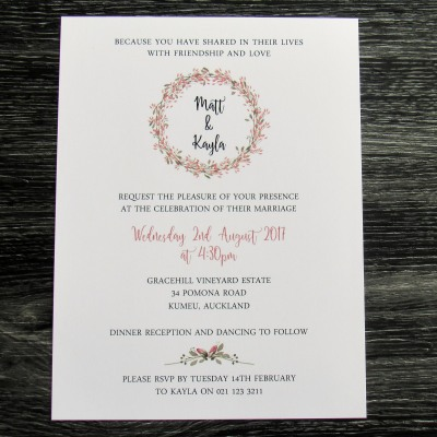 Autumn Blush Invitation