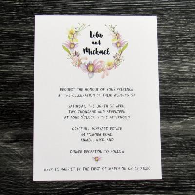 Tropical Wreath Invitation