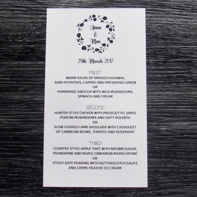 Black Rose Menu
