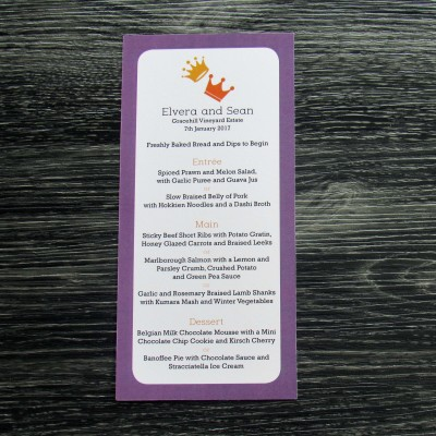 Two Crowns Menu