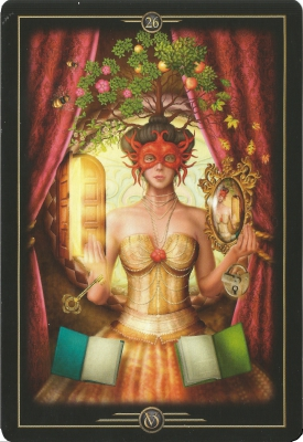 From the gorgeous Oracle of Visions Deck by Ciro Marchetti. Card #26 past and future, fresh start