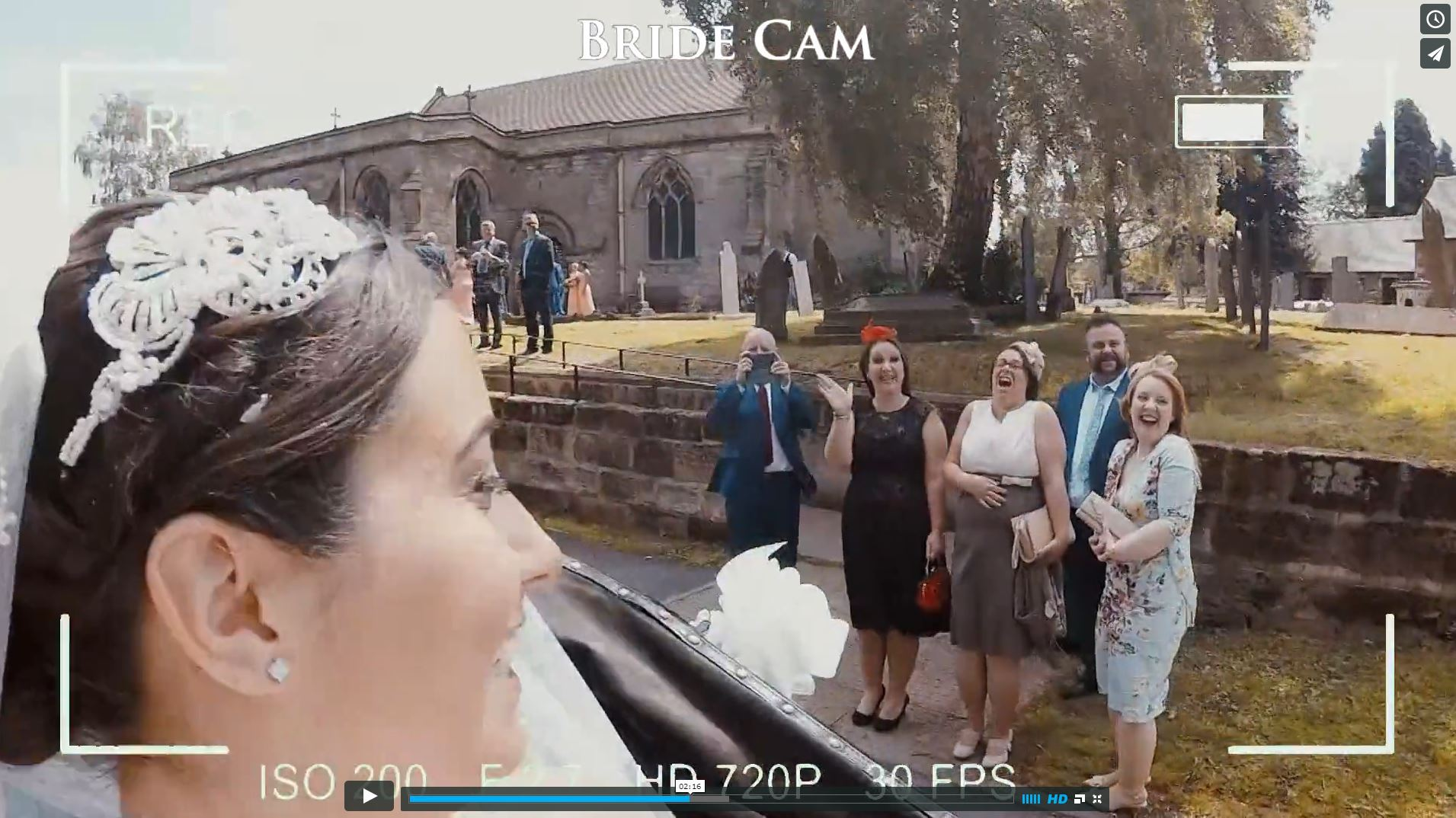 'Bridecam' revolutionising wedding videos