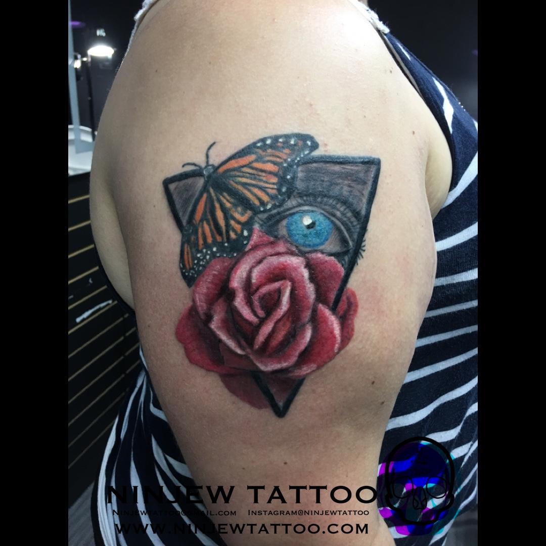Rose Butterfly Eye