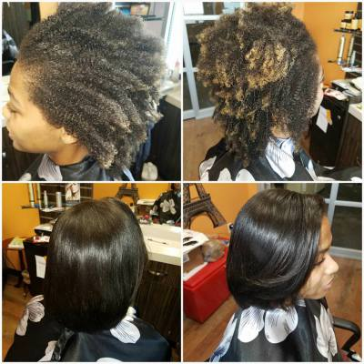 Natural Hair/Silk press