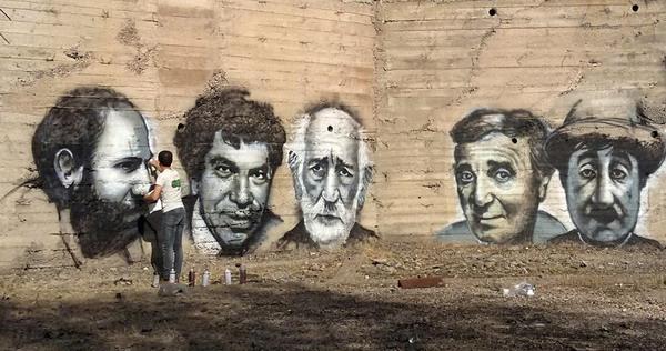 Գրաֆիտի. հայ մեծերի դիմապատկերները