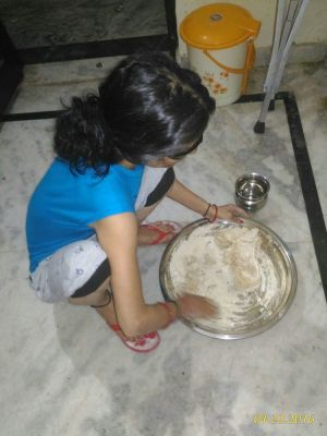 #312 - GIRL WORKING IN KITCHEN, BUT SHE IS BLIND