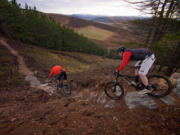 coffee still cafe Glenlivet bike trails red trails