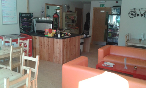 coffee still cafe Glenlivet bike trails interrior