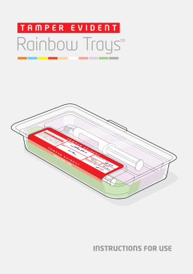 Rainbow Trays Tamper Evident User Instructions