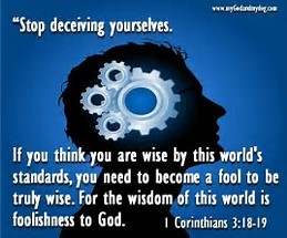 1 Corinthians 3: 18-19