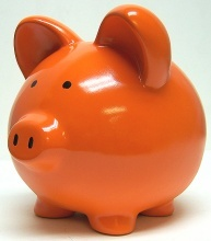 Piggy-bank...mostly empty