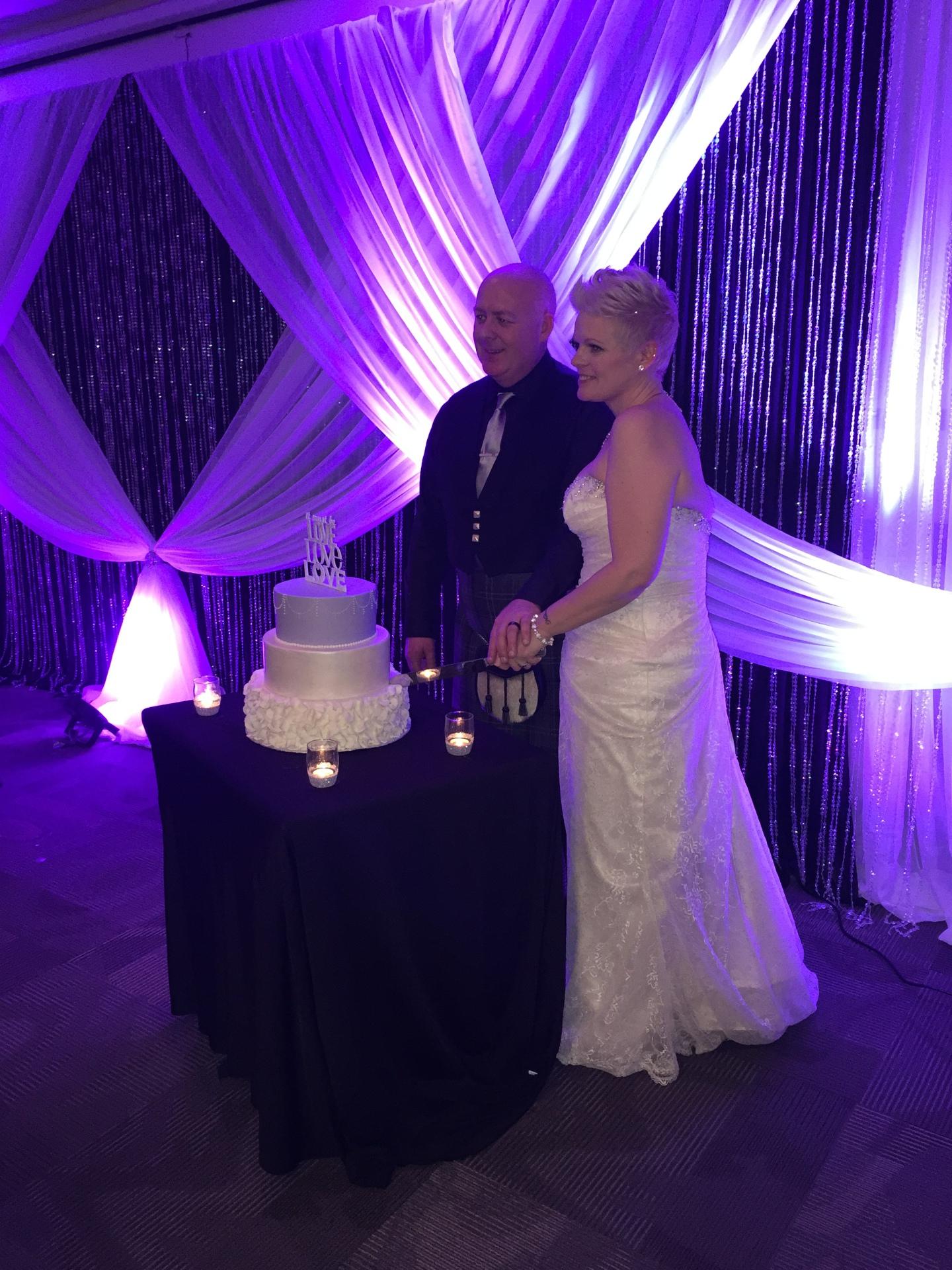 Amazing bride and groom