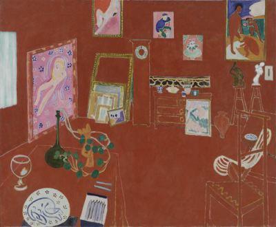 """L`Atelier Rouge ( The Red Studio)""- Henri Matisse, 1911"