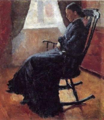 """""""Matusa Karen pe un scaun""""- Edvard Munch, 1883"""