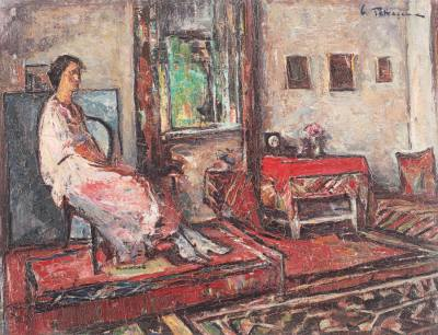 """""""Lucreţia în interior"""" - Gheorghe Petraşcu,1930"""