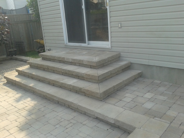 Interlock Steps and Patio