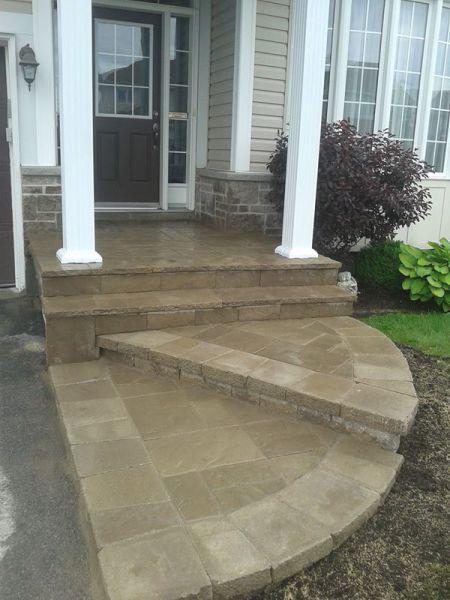 Concrete overlay/Stone Steps