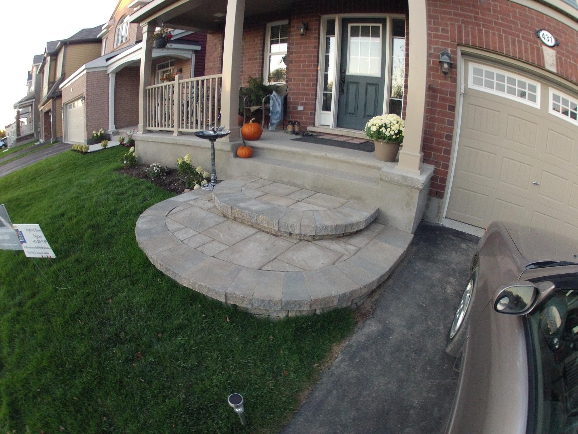 Round Stone Steps