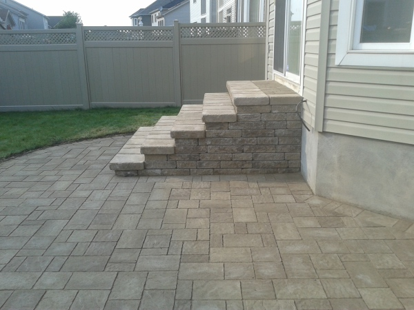 Big Stone Steps and Patio