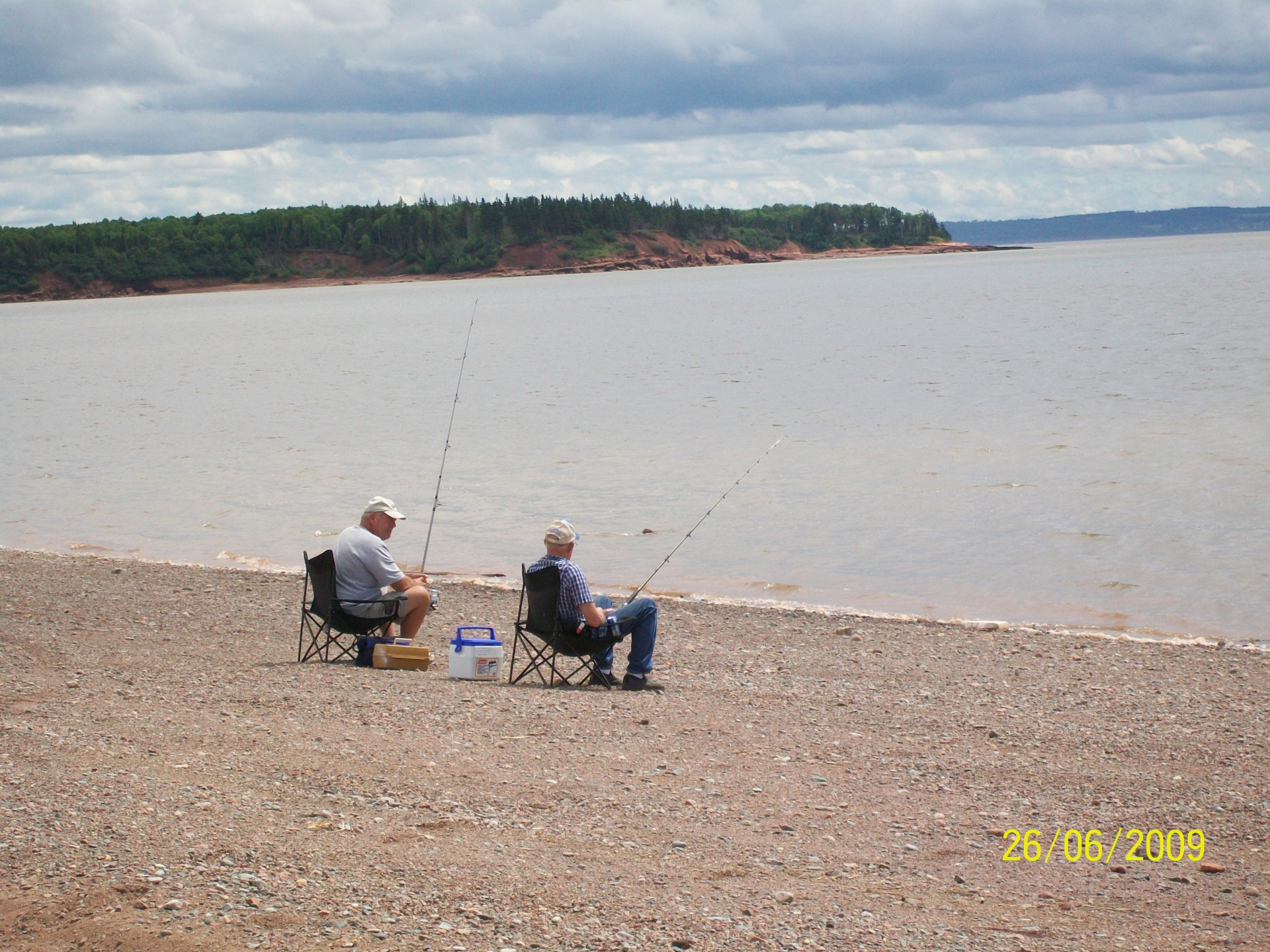 Bass Fishing on the shore of the minus basin