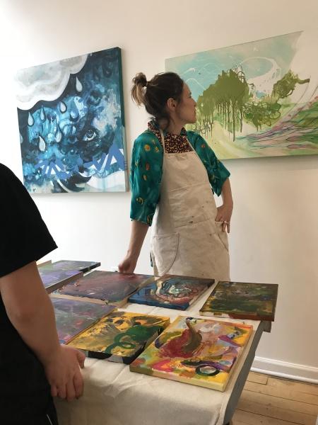"""""""Weathering the Storm"""" by Lauren Feece - Children's Meditation Art Workshop"""